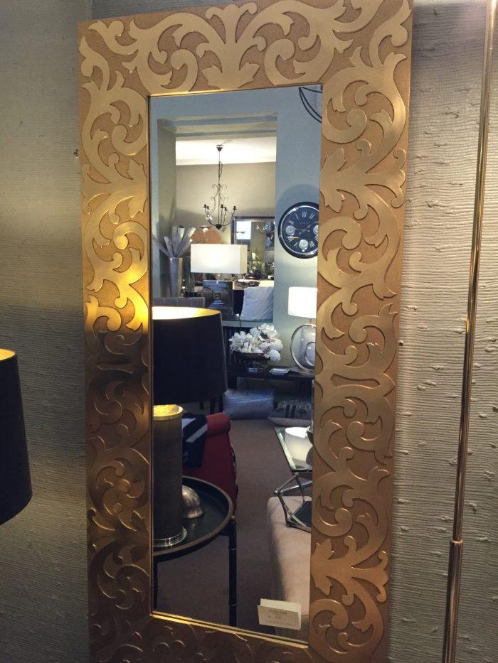 Spiegel rechteckig ornamental gold